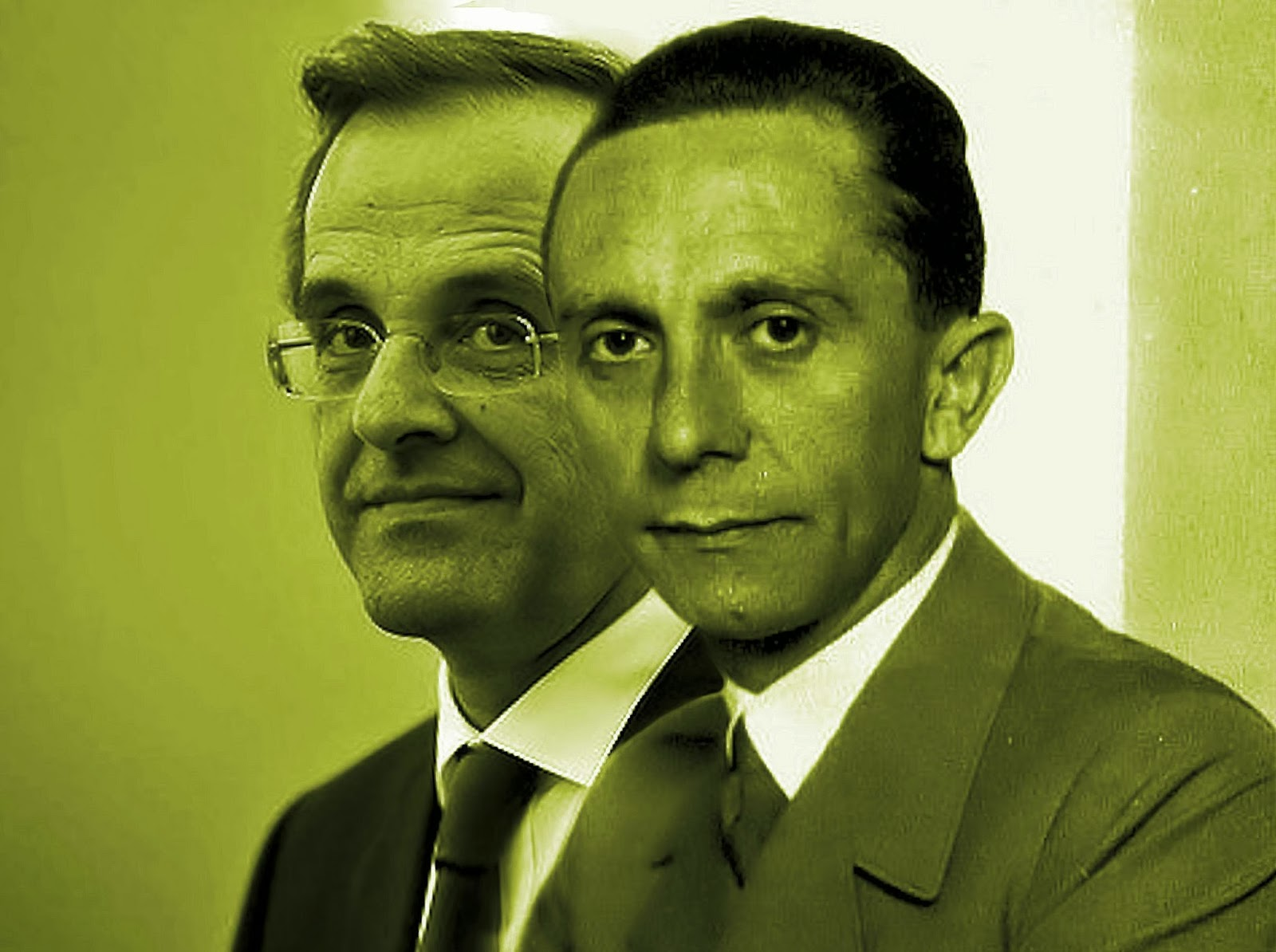 Joseph_Goebbels with Antonis Samaras a souvenir by OKTANA for My Pillow Book