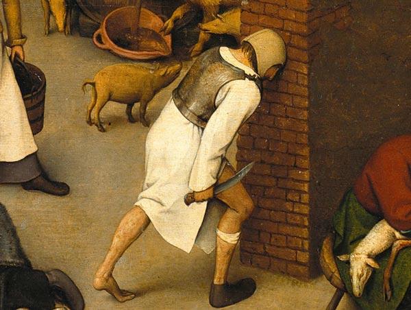 Detail from Pieter Bruegel the Elder's Netherlandish Proverbs.