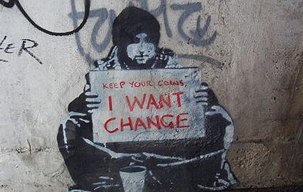 keep your coins_ I WANT CHANGE REVOLUTION EVOLUTION