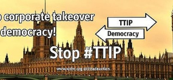 Transatlantic Trade and Investment Partnership ( #TTIP ) between the #USA and the #EU is threatening to undermine democracy by handing over power to corporations. The TTIP could allow corporations to sue governments and take away their sovereignty to make decisions for the benefit of their own people. Stop the corporate takeover of Democracy: http://wdm.li/1jKNBbX