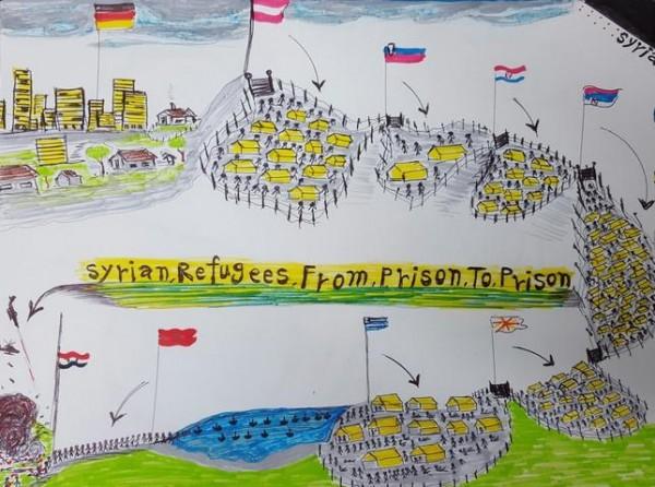 Η συγκλονιστική ζωγραφιά του προσφυγόπουλου