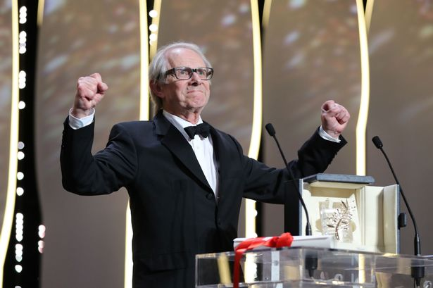 British-director-Ken-Loach-celebrates-on-stage