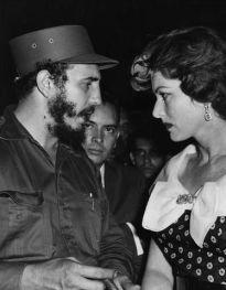 Fidel Castro and Maureen O'Hara