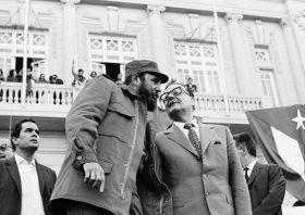 Fidel Castro and Salvador Allende