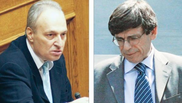 Ευάγγελος Μπασιάκος (αριστερά) και Γιάννης Αγγέλου ήταν από τα θύματα της υπόθεσης Βατοπαιδίου