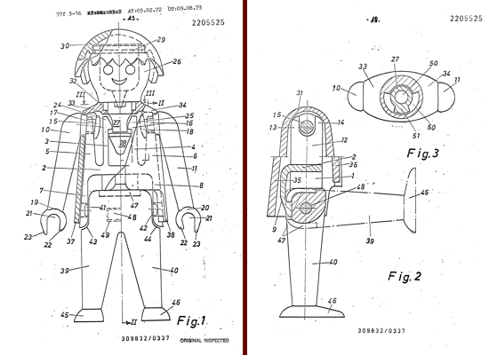 Playmobil, images from patent (February 5, 1972)