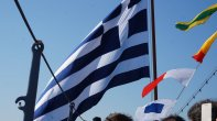 Ο ΥΕΘΑ @PanosKammenos Πάνος Καμμένος συνοδεύοντας τον ΠτΔ κ. Προκόπη Παυλόπουλο στην παρασημοφόρηση σημαίας
