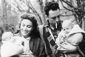 Albert and Francine Faure Camus, and their twins, Jean & Catherine Camus