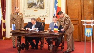 Υπογραφή Συμφώνου Αμυντικής Συνεργασίας μεταξύ Ελλάδος & Ρουμανίας