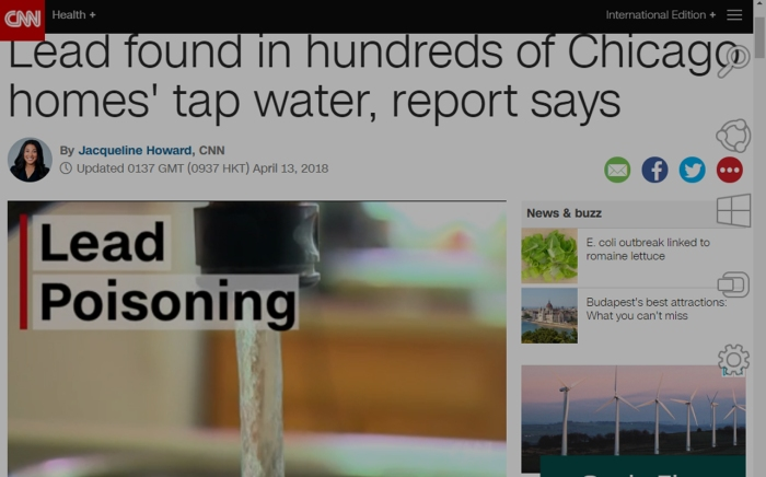 Lead found in hundreds of Chicago homes' tap water, report says