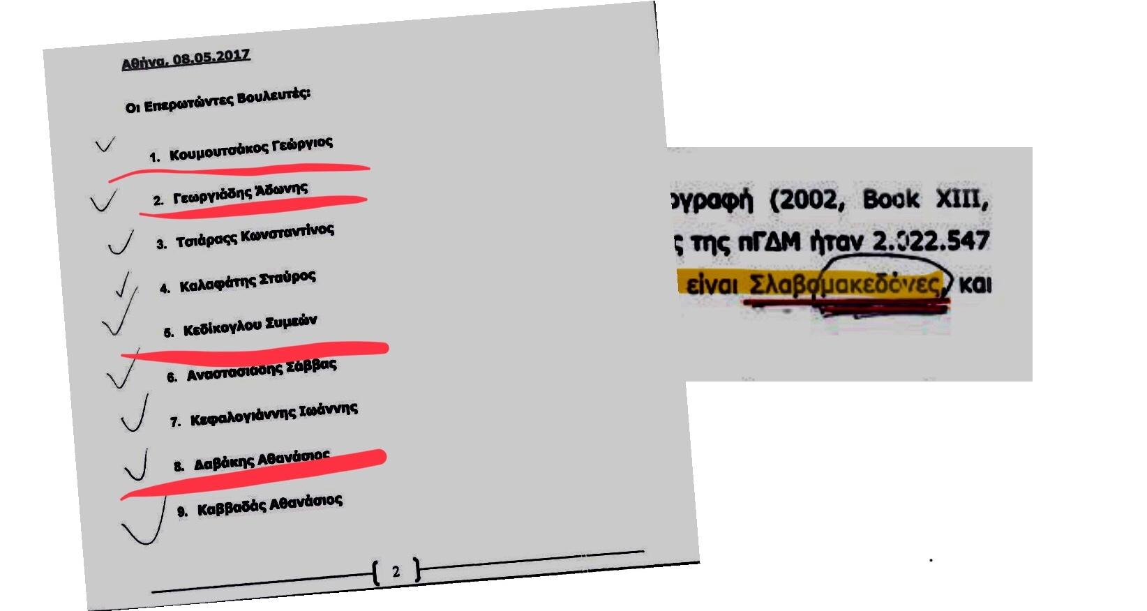 ΑΠΟΚΑΛΥΨΗ-Ολοι οι βουλευτές της ΝΔ έχουν αποδεχθεί το όνομα Μακεδονία για τα Σκοπιά – Γεωργιαδης, Κουμουτσάκος, Βαρβιτσιωτης, Κεδικογλου, Σαμαρας, Μητσοτακης [ΥΠΟΓΡΑΦΕΣ & ΒΙΝΤΕΟ ΝΤΟΚΟΥΜΕΝΤΑ]