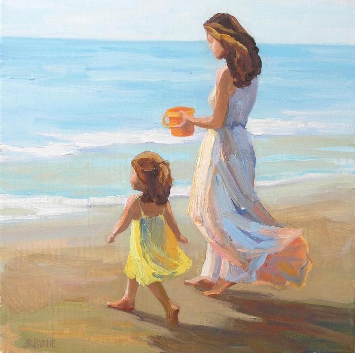 «Πριν γεννηθείς, αναρωτιόμουνα πολλές φορές, πώς θα μεγάλωνα μιά κόρη. Ήθελα ένα αιθέριο κοριτσάκι ή ένα παχουλό χαρούμενο παιδί; Ήθελα να είναι δραστήρια ή τρυφερή;
