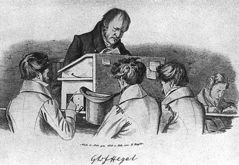Georg Wilhelm Friedrich Hegel-at-lecturn