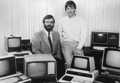 Bill Gates and Paul Allen, 1981