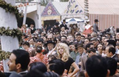 Brigitte Bardot at the time she was making the film, La Femme et le Pantin, Spain, 1958