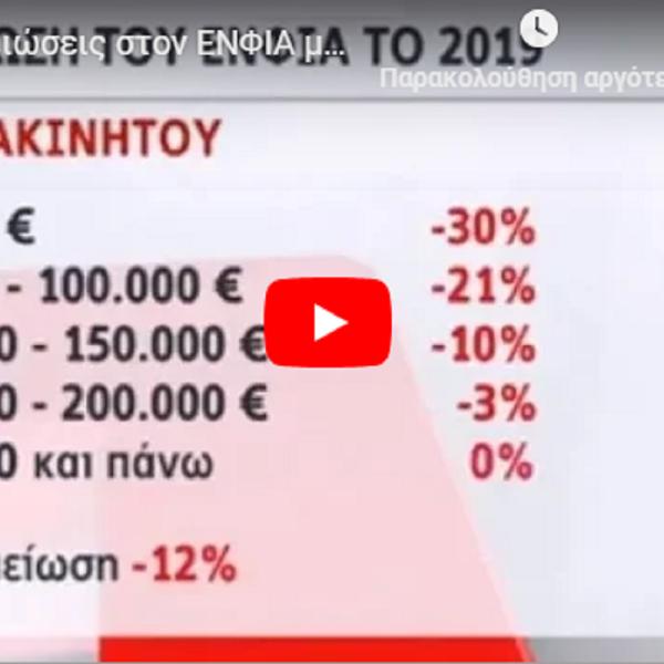 ΔΕΙΤΕ πόση μείωση ΕΝΦΙΑ δικαιούστε από 1.1.2019