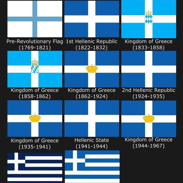ΕΛΛΗΝΙΚΗ ΣΗΜΑΙΑ ΚΥΑΝΟΛΕΥΚΗΣ ΣΤΑΥΡΟΣ GREEK FLAG GREECE HISTORY 1821 Έντονη αρχίζει να γίνεται το τελευταίο διάστημα η παρουσία σε εορταστικές εκδηλώσεις της Ελληνικής σημαίας, χωρίς το σταυρό, ενώ οι γραμμές πλέον είναι κάθετες ή οριζόντιες σε μπλε και άσπρο χρώμα Γιατί η ελληνική σημαία είναι κυανόλευκη; Γιατί έχει εννιά λωρίδες; Πότε καθιερώθηκε ως επίσημη σημαία του ελληνικού κράτους;...