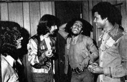 George Harrison meets Bob Marley, 1975