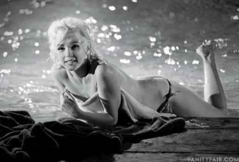 Marilyn Monroe, in a never-before-published picture, shot during the pool scene in Something_s Got to Give, May 1962.