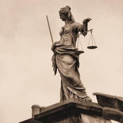 Statue of Iustitia (Lady Justice) -Dublin Castle, Dublin, Ireland.