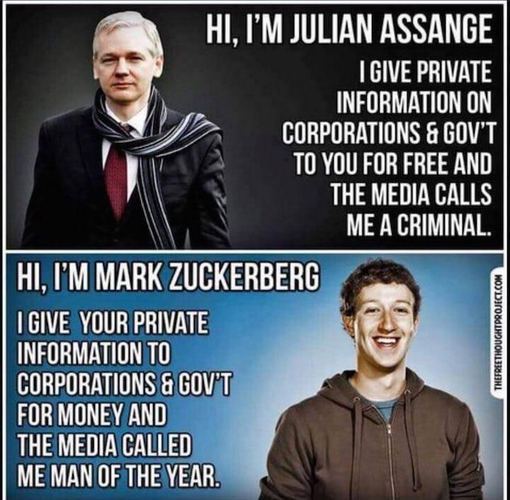 Assange VS Zuckerberg = Προμηθεύς ή Εφιάλτης = Prometheus OR Ephialtes = #wikileaks VS #facebook