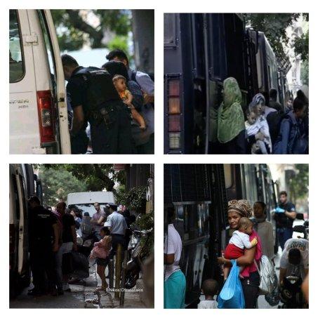 Greek armed Police arresting women with kids and infants @Amnesty @guardian @paulmasonnews @bbc @CNNi @NYTimes @WashingtonPost @VP @statedeptspox @CBS @NBC @ABC @CNBC @Reuters @ReutersWorld @AP @DerSPIEGEL @BILD @ze ( (129)