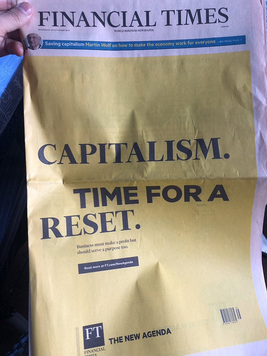 Today's anti-capitalist front page of … FT !
