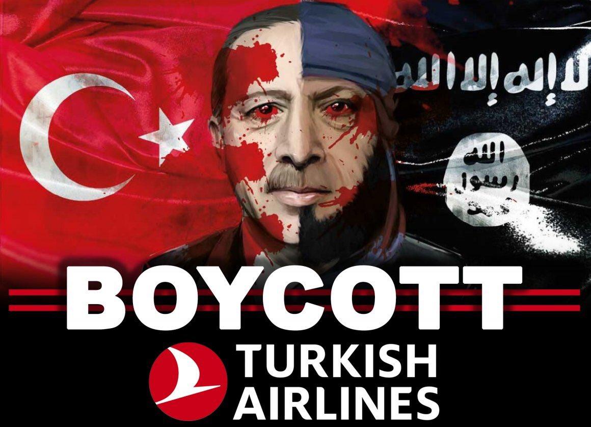 """ΠΡΟΚΛΗΤΙΚΟΣ ο Ερντογάν: """"Όπως έμαθαν στην Κύπρο τι εστί Τουρκία, θα το μάθουν και τώρα"""" #boycottturkishairlines"""