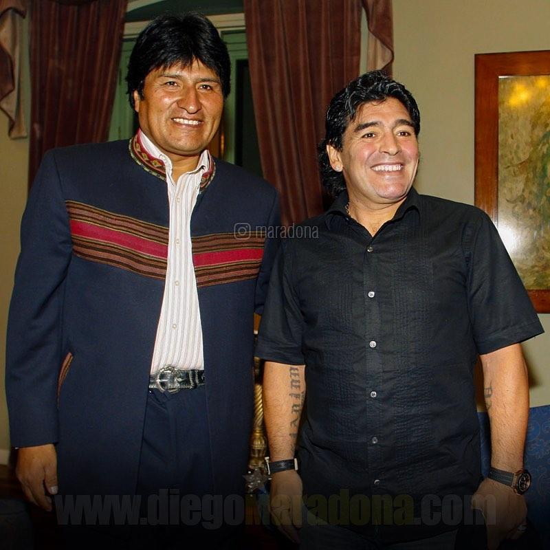 """Ο Μαραντόνα υποστηρίζει τον Εβο Μοράλες και καταγγέλλει ότι είναι  πραξικόπημα στην Βολιβία"""""""