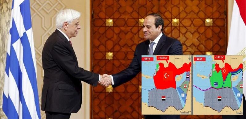 23 Απριλίου 2015 Ο ΠτΔ Προκόπης Παυλόπουλος από το Κάιρο «Υποδειγματική η στάση της Αιγύπτου στο θέμα της ΑΟΖ»