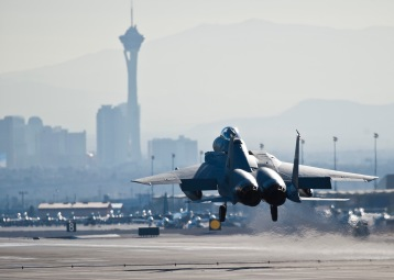 F-15 C Nellis Air Force Base rear view FOX 3