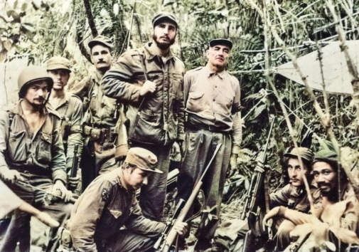Fidel Castro, Raul Castro and fellow guerilla's, circa 1958