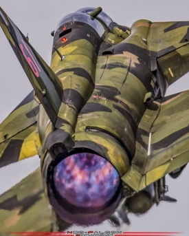 SAAB 37 VIGGEN rear view FOX 3
