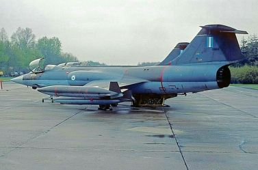 Greek F-104 Starfighter rear view