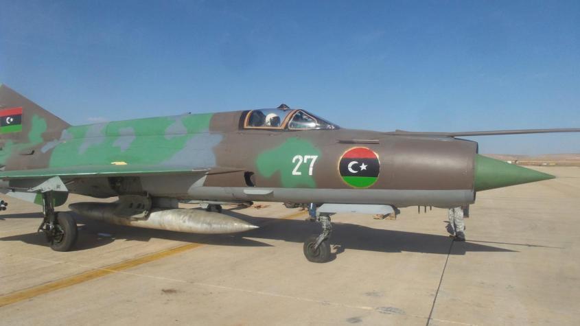 An LNAAF Mig-21, pictured in Benghazi in 2016 (Arnaud Delalande)