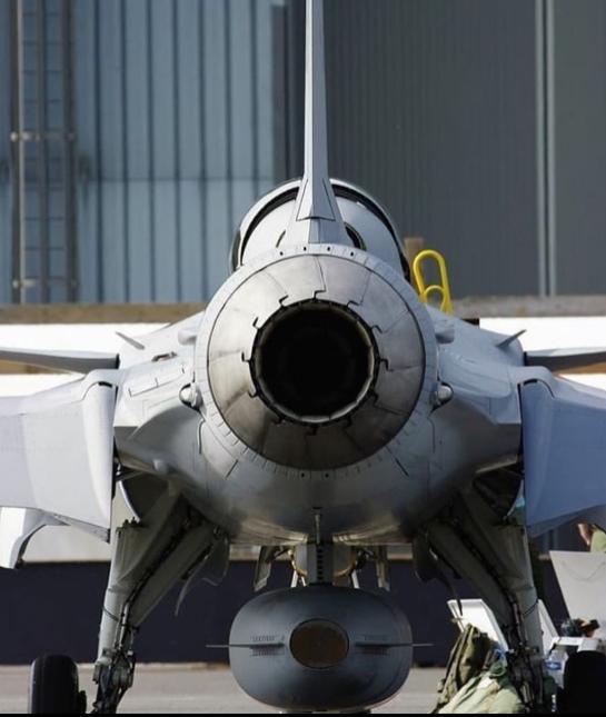 Saab JAS-39 Gripen rear view FOX 3