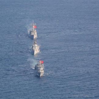 Οι μονάδες επιφάνειας TCG GÖKSU και TCG GÖKOVA που πλέουν σε αυτή την περιοχή της Μεσογείου (2)