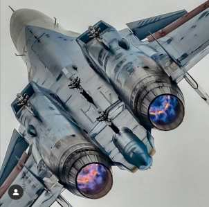 Su-34 rear view FOX 3