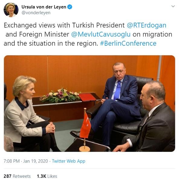 """Τον """"απομονωμένο"""" 🇹🇷 Ερντογάν επισκέφθηκε η Πρόεδρος της ΕΕ Ursula von der Leyen – Πως τον πετσόκοψες έτσι ρε Κούλη ; [ΦΩΤΟ]"""