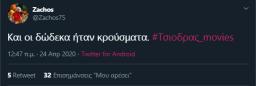#Τσιοδρας_movies viral trend twitter Σωτήρης Τσίοδρας (2)