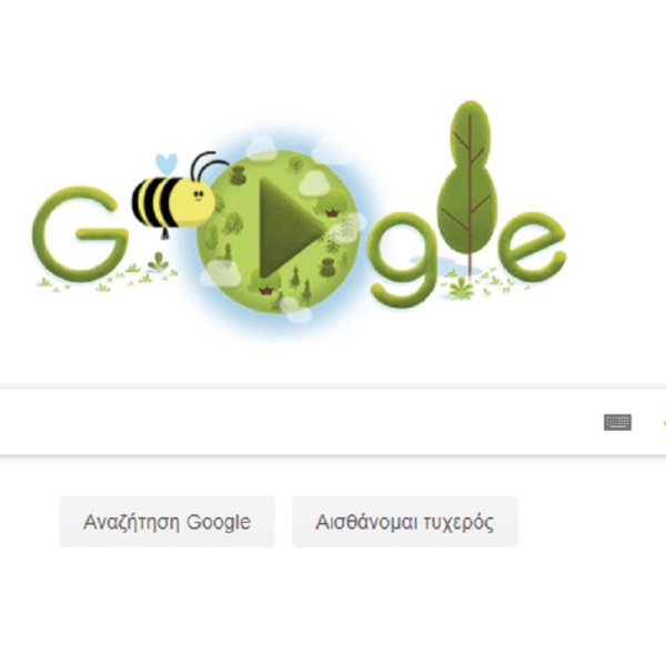 official Earth Day 2020 March Equinox 2020 google doodle bee bees