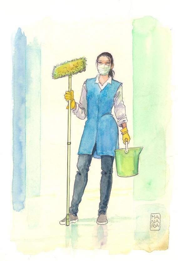 Ο Milo Manara τιμά τις αφανείς ηρωίδες πίσω από Ιατρούς και νοσηλευτές, τις καθαρίστριες #Italy 🇮🇹🇮🇹🇮🇹🇮🇹