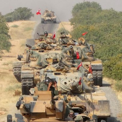 "Turkey War Criminal: Cease fire violation in Syria w/ 2,665 vehicles enter the ""de-escalation zone"" @POTUS @USEmbassyAthens"