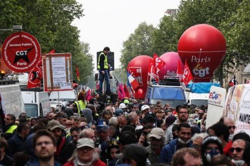 La manifestation du 1er Mai 2020 a Paris