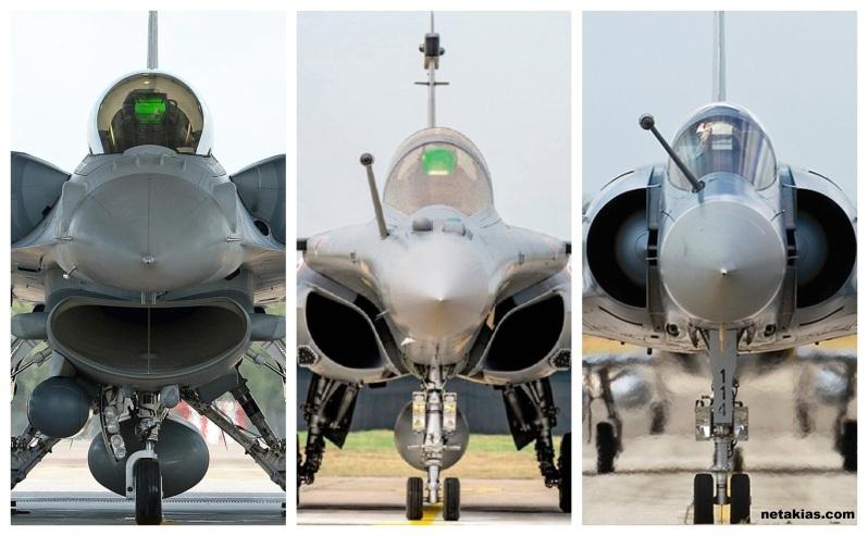 F-16 Viper με τα Rafale και τα Mirage 2000-5
