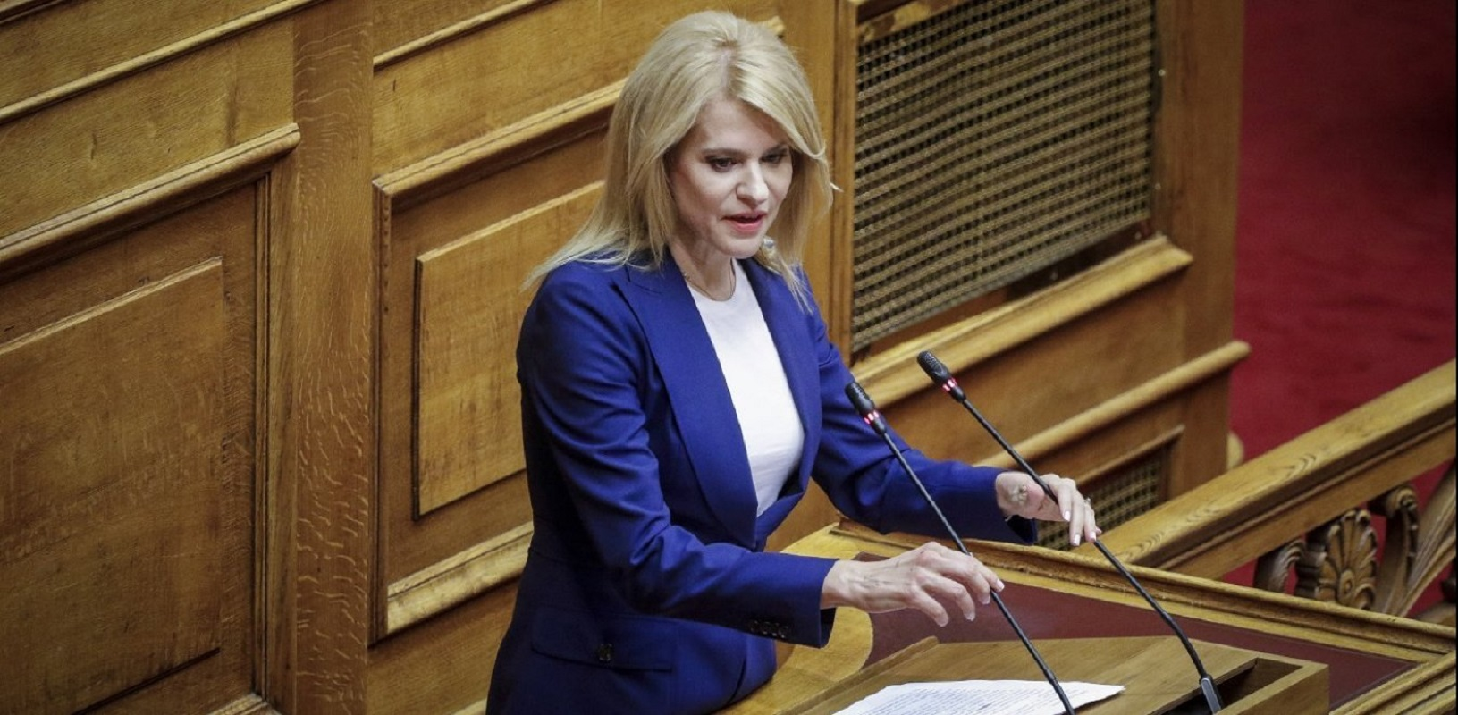 """""""Θα μείνετε στην Ιστορία ως χορηγός της Τουρκικής Οικονομίας κ.Γεωργιάδη"""" η Τζάκρη ισοπέδωσε τον Αδωνη στην Βουλή (Βίντεο)"""