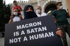Turkey France Charlie Hebdo Protest