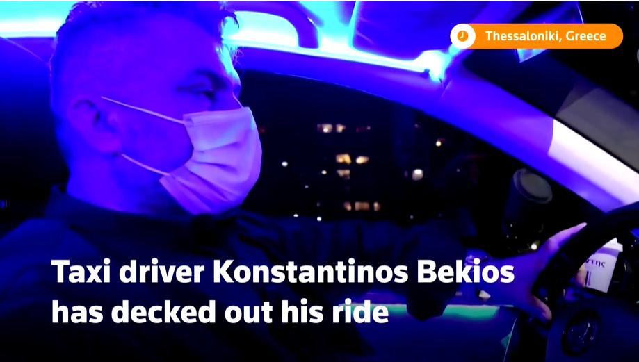 Αθάνατος Ελληνας Ταρίφας έγινε πρώτη είδηση στο Reuters μετατρέποντας το Ταξί του σε club (Βίντεο)