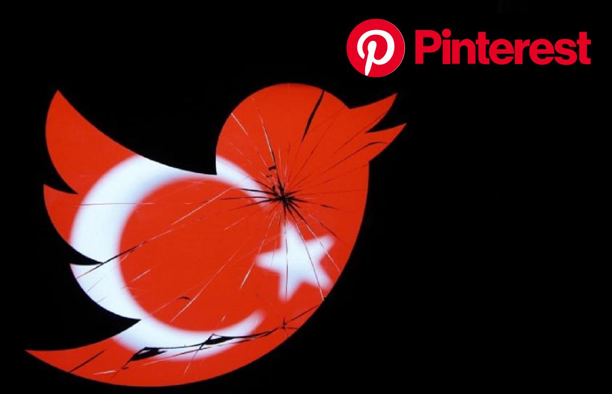 Μπλοκο Ερντογάν σε @Twitter και @Pinterest με Απαγόρευση εσόδων από διαφημίσεις