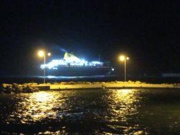 Πρόσκρουση του Νήσος Μύκονος στο λιμάνι του Αγίου Κηρύκου (3)